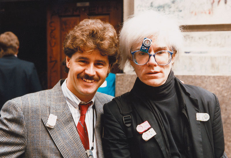 Michel Jordi with Andy Warhol