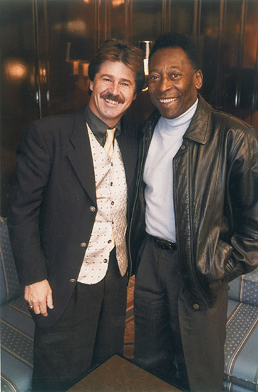 Michel Jordi with Pele