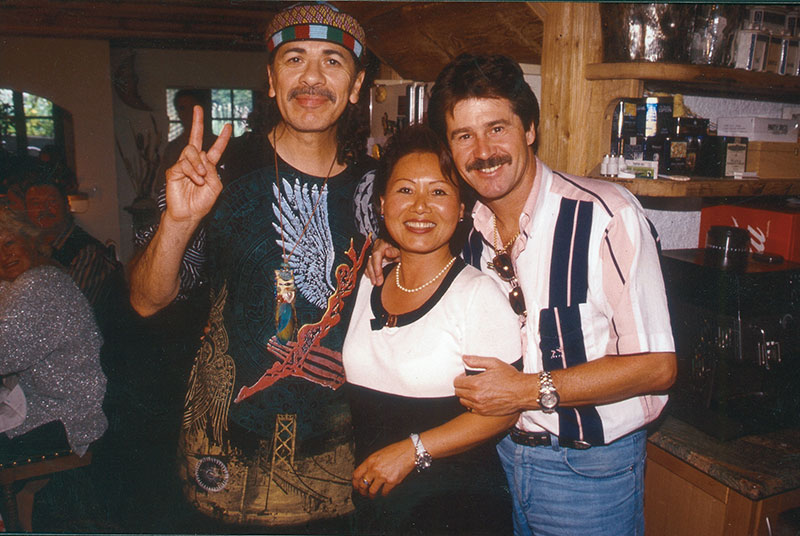 Michel Jordi with Santana